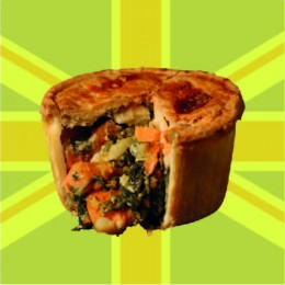 Goats Cheese, Spinach and Sweet Potato - Vegetarian - Gluten Free Pie