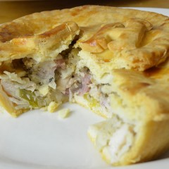 5x Chicken, Ham and Leek in White Sauce Gluten Free Pie
