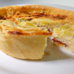 Cheese and Sundried Tomato Quiche - Gluten Free Quiche