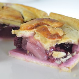 Blackberry and Bramley Apple Pie - Gluten and Dairy Free Pie