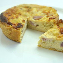 Cheese and Bacon Quiche - Gluten Free