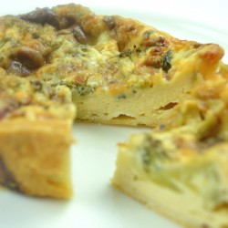 Broccoli and Stilton Quiche Gluten Free